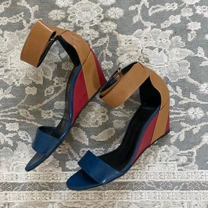 Pierre Hardy Tri-color Wedge Leather Sandals
